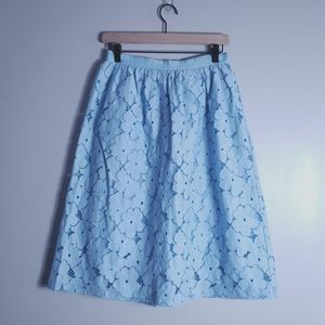 NWT Cath Kidston London Blue Lace Skirt